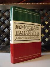 LaPalombara DEMOCRACY ITALIAN STYLE Yale University Press LIBRO POLITICA ITALIA