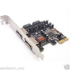 PCI-e eSATA SATA RAID Controller Card Adapter Express Sata & e-Sata-Karte