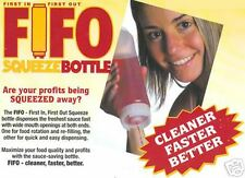 12 EACH  24 OZ. FIFO SQUEEZE BOTTLE FOR SAUCES,DRESSINGS.