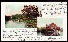 1905 multi-view Nashua Boat Club & River New Hampshire postcard