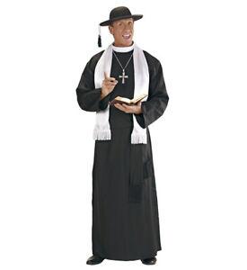 Deluxe Vicar Priest Bishop Religious Men Fancy Dress Costume S- XXXL Inc. HAT