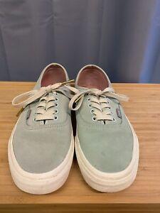 Vans Shoes Trainers Light Blue Suede Size UK 6 low