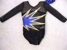 Nwt Dreamlight Black Mystique Foil Rhinestones Gymnastics Competition Leotard