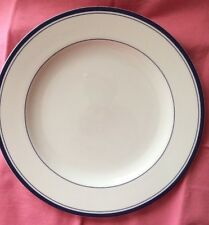 Cooks Club Dinner Plate Novi White Blue Stripe HTF Classy Quality & Design