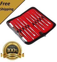 Professional 10 pcs/Set Dental Lab Wax carving Tools Knife Set Surgical Instrume