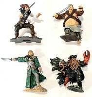Lot of 4: Pirates of the Caribbean Mini-Figures Cake Toppers * Combine Shipping!