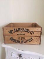 Wooden W Jameson & Co Dublin Whiskey Wine Crate Box Storage Shabby Chic Retro