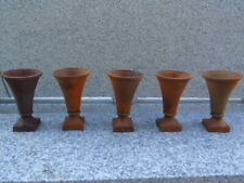 lot de 5 pcs ! vasque en fonte pat rouillé , décoration de table .