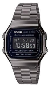 Casio A-168WEGG-1B Orologio polso, Batt.7anni Illuminator Crono Sveglia Vintage