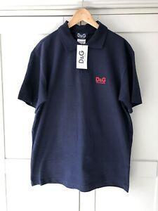 D&G Mens Navy Polo T Shirt XXL