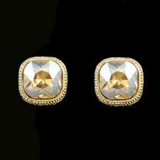 Gorgeous Luxury Gold Plated Gold Austrian Crystal Clip-On  Clip On Earrings