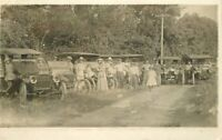 C-1910 Seven Automobiles Owners Group Photo RPPC Photo Postcard 20-5078