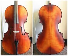 Advanced 4/4 Full Size Cello France Bridge, Helicore Strings,Ready to Play,NEW