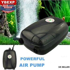 300 Gallon Adjustable Silent Air Pump Large Aquarium Fish Tank 2 Outlet US