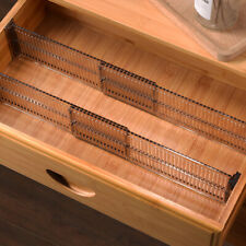 2Pcs Adjustable Drawer Organizer Divider Underwear Bra Socks Closet Storage
