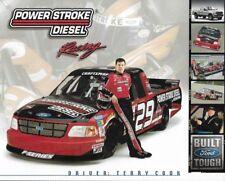 """2002 TERRY COOK """"POWER STROKE DIESEL RACING"""" #29 NASCAR TRUCK SERIES POSTCARD"""