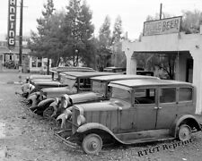 Photograph Vintage Cars for Sale / Migrant Workers California 1939  8x10