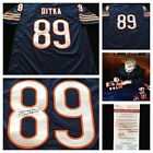 Mike Ditka Chicago Bears Signed Autograph Blue Football Jersey JSA COA
