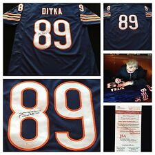 Mike Ditka Chicago Bears Signed Autograph Blue Jersey JSA COA