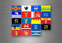 Aufkleber sticker set bundesstaat lander flagge flaggen stempel fahne finland