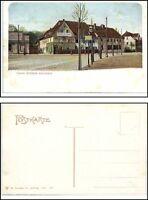 EUTRITZSCH Leipzig 1905 Gasthaus Gosen Schänke Strassen Ansicht color Postkarte