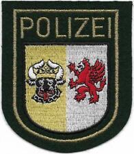 MECKLENBURG-VORPOMMERN Polizei Abzeichen Patch grün v. JACKE  90er Jahre MeVo