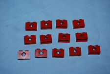 R Lego 1 x 2 Brick Dark Red w/ Axle Hole Lot 13 7663 8097 32064