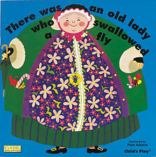 There Was an Old Lady Who Swallowed a Fly (pb) by Pam Adams die cut pages NEW