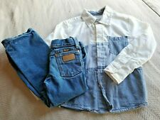 Wranger and Copper Denim Western Outfit Boys Size 5