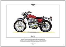 NORTON P11 - Motorcycle Fine Art Print - 750cc parallel-twin OHV - Desert Racer