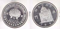 MACAO MACAU -RARE SILVER PROOF 100 PATACAS COIN 1998 YEAR KM#106 19th EAST ASIAN