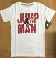 Nike AIR JORDAN Kids Boys White/Red Michael Jordan T-Shirt, 8 10 12 years