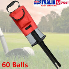 Zipper Golf Ball Picker Pickup Pick-up Storage Carry Shag Bag Holds 60 Balls AU