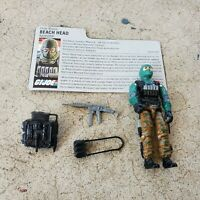 Vintage GI Joe Figure 1986 Beach Head complete with file card