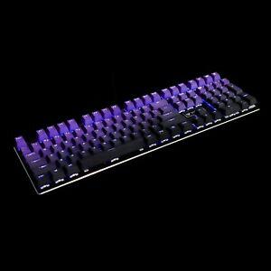 YMDK Double Shot 108 Dyed PBT Shine Through OEM Rainbow Carbon Sunset Keycap