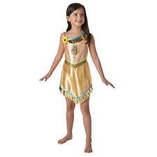 Childrens Disney Pochontas Fancy Dress Costume Girls Kids Outfit M