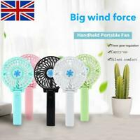 Portable Mini Fan Hand-held Desk Cooler Cooling USB Rechargeable Air Conditioner