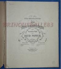 PIANO VIOLONCELLE PARTITION DAVID POPPER 6 PIÈCES LIVRE I OPUS 3 ±1864 HECHINGEN
