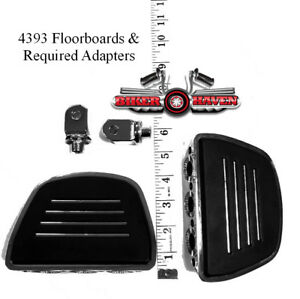 Kuryakyn Rear Premium Mini Floor Board & Adapter KIT Kawasaki Models