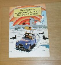Citroen 2CV Tin Tin Adventures Of The 2CV And Arctic Snowman 2CV6 Brochure 1986