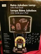NEW Retro Style Jukebox Lamp Alarm Clock Radio w/ iPod Dock King America Light