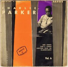 "CHARLIE PARKER ""RED CROSS"" JAZZ 50'S EP SAVOY / DUCRETET-THOMSON 460 SV 401"
