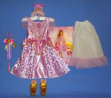 Disney Princess Aurora costume dress girls 3T-4T-petticoat-wand-shoes-tiara LOT