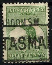 Australia 1913-1914 SG#1, 1/2d Green Kangaroo Used #D48313