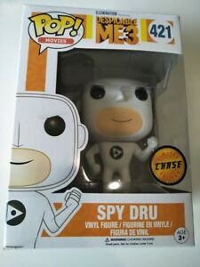 Funko Spy Dru Gru Chase white Despicable Me 3 BNIB pop vinyl figure #421