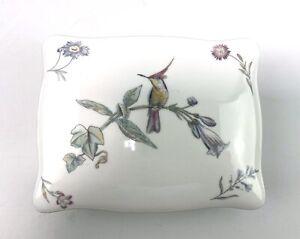 Wedgwood Bone China Lidded Trinket Box Humming Birds Pretty Delicate