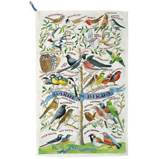 GARDEN BIRDS TEA TOWEL,DESIGNED BY E. BRIDGEWATER
