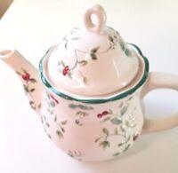 Pfaltzgraff Winterberry Tea Teapot Coffeepot Christmas Holiday Holly Berry NWOB