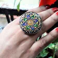 Wedding Indian Adjustable Fashion Jewelry Ethnic Bohemian Handmade Floral Ring