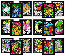 Super Pack of 18 Fuzzy Velvet 8x10 Inch Posters (Artistic Edition) Stuff2Color
